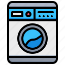 electronic, machine, technology, washing icon