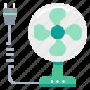 fan, plug, technology, wind icon