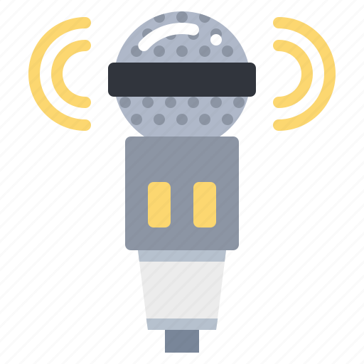 mic, microphone, sound, technology icon