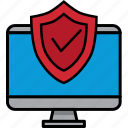 computer, security, protect, safe, safety, shield, icon