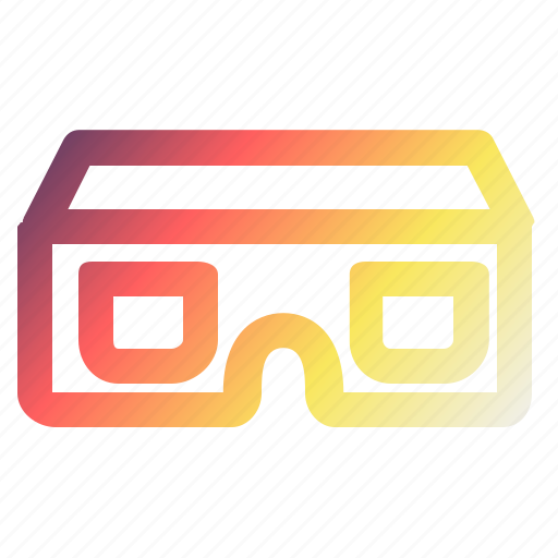 glasses, multimedia, reality, technology, video, vr, watch icon