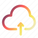 cloud, download, technology, upload, weather icon