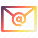 email, inbox, letter, mail, technology icon