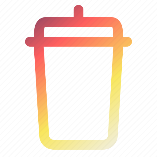 bin, can, dump, recyclebin, rubbish, technology, trash icon