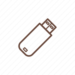 computer, device, flash disk, pc, technology icon