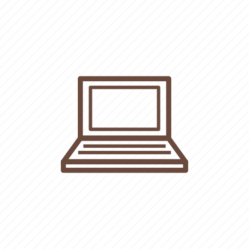 computer, device, hardware, laptop, technology icon