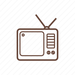 electronics, technology, television, tv icon