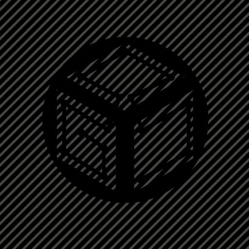 cube, grid, square, techno icon