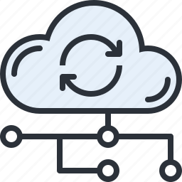 cloud, data, information, online, storage, sync, technology icon