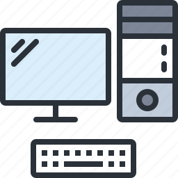 computer, desktop, monitor, pc, technology icon