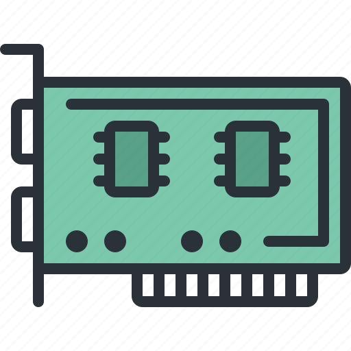card, component, computer, graphic, pc, technology icon