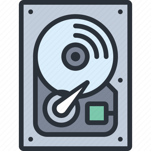 computer, disk, drive, hard, hdd, ssd, technology icon