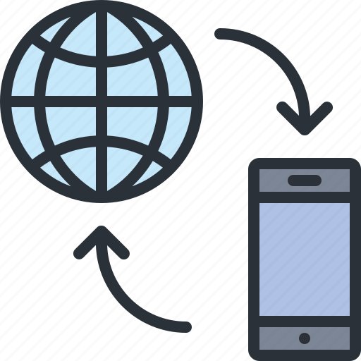 connection, internet, online, phone, technology, wireless icon