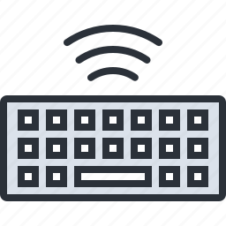 computer, device, keyboard, technology, wifi, wireless icon