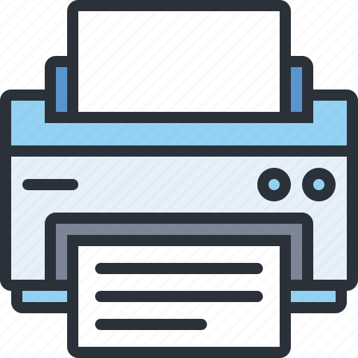 device, document, paper, print, printer, technology icon