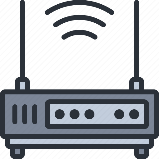 device, router, technology, wifi, wireless icon