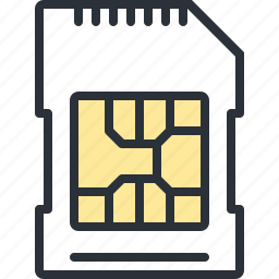 card, communication, mobile, phone, sim, technology icon