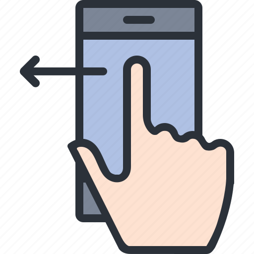 gesture, iphone, left, mobile, phone, swipe, technology icon