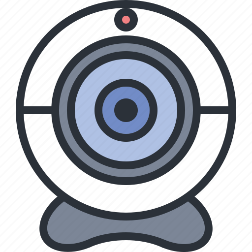 chat, technology, video, webcam icon