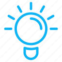 bulb, computer, idea, internet, technology icon