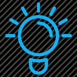 bulb, computer, idea, internet, technology icon