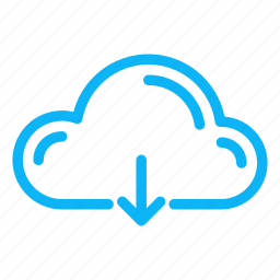 cloud, computer, download, internet, technology icon