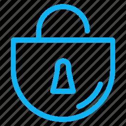 computer, electronic, internet, lock, technology icon