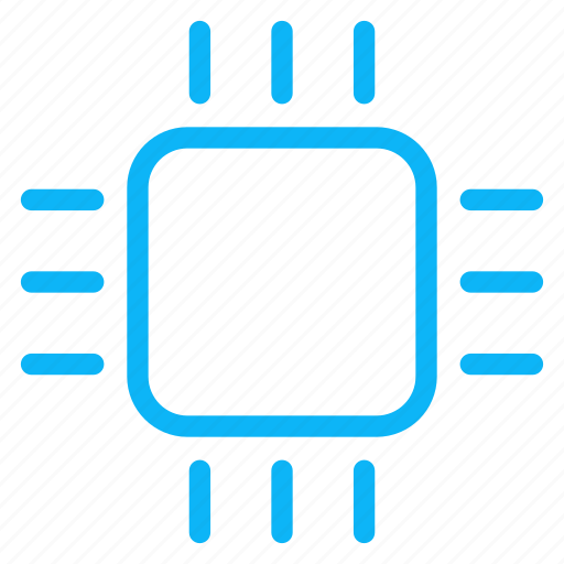 computer, electronic, internet, processor, technology icon