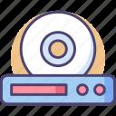cdplayer, intelligent, technology icon