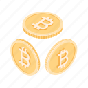 bitcoins, finance, money, cryptocurrency icon