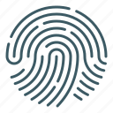 biometric, fingerprint, identity, key, scan, security icon