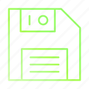 data, disk, floppy, save, storage icon
