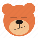 bear, bored, cartoon, expression, funny, teddy icon