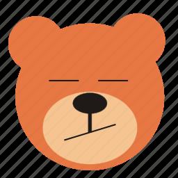 bear, bored, cartoon, expression, funny, teddy icon