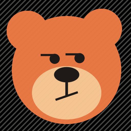 bear, cartoon, curious, expression, funny, teddy icon