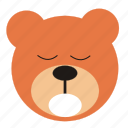 bear, cartoon, expression, funny, sleep, teddy icon