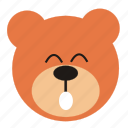 bear, cartoon, expression, funny, smile, teddy icon