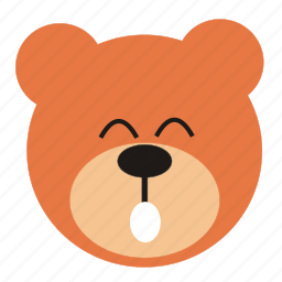 bear, cartoon, expression, funny, smile, teddy icon