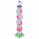 communication tower, network tower, radio tower, signal tower, tower icon