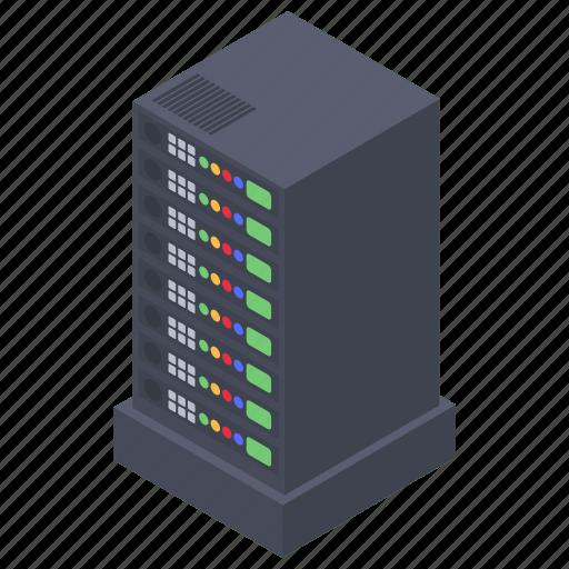 data server, database, datacenter, main server, server icon