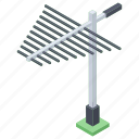 aerial, antenna, communication antenna, tower, tv antenna icon