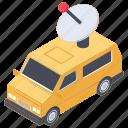 journalist van, news van, satellite van, smart van, wireless van icon