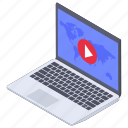 live streaming, multimedia, online video, video player, video streaming icon