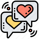 chat, conversation, flirt, message, talk icon