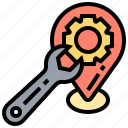 location, repair, service, support, wrench