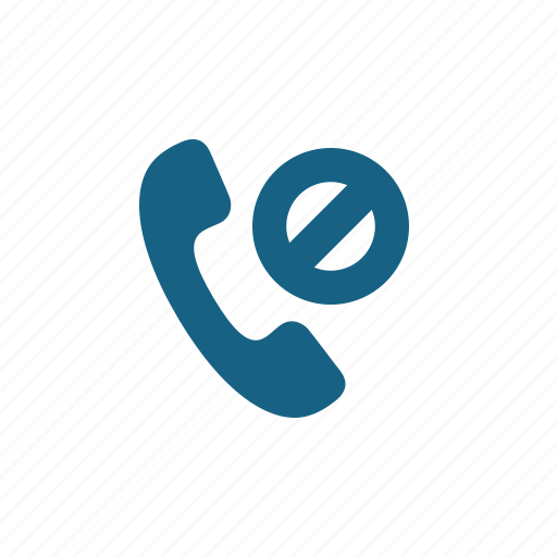 Blocked number, phone, phone call, restricted, telephone icon