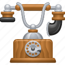 antique, old, phone, telephone icon
