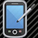 mobile phone, pda, phone, smart phone, smartphone, stylus, telephone icon