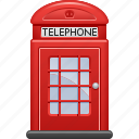 booth, phone, phone booth, red, telephone, telephone booth icon