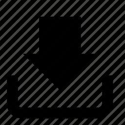 arrow, download, inbox icon
